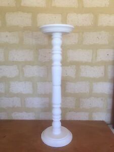 White wooden plant stand Dianella Stirling Area Preview