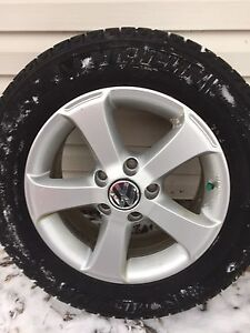 VW rims and snow tires