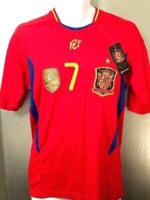 560ec6959cfe Spain World Cup Champion 2010 Futbol Soccer Jersey Med fifa RFCF David  Villa 7