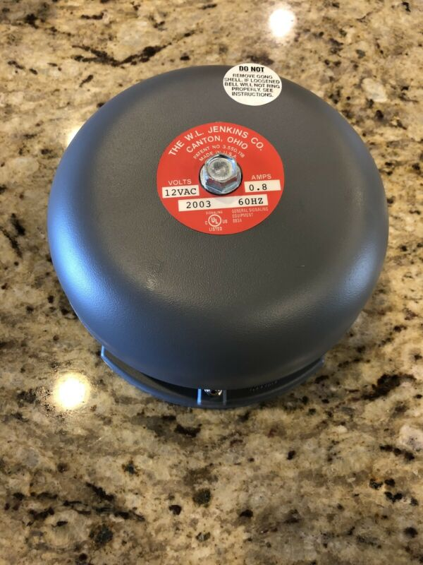 W.L. Jenkins 2003 Audible Signal Bell 12 VAC  0.8 AMPS 60HZ. (New In Box)