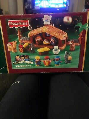 Fisher Price Little People Christmas Story Lights & Sounds Nativity Scene Works