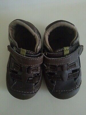 Baby Boy Brown STRIDE RITE Soft Walking Shoes Size 5