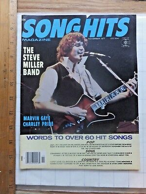 (November 1977 Song Hits Magazine. Steve Miller Cover. Words to Top Hits. 50 pgs)