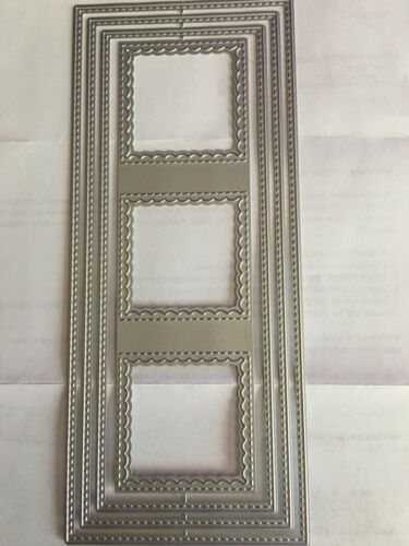 UNBRANDED Slimline Set of 4 Layering Stitched Dies*****FREE SHIPPING!!!!!!