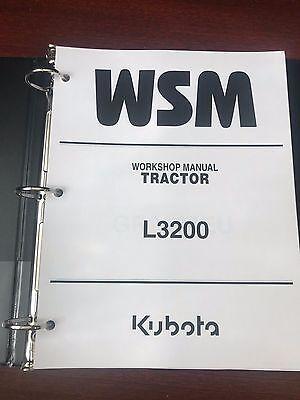 Kubota L3200 Tractor Repair Service Workshop Manual