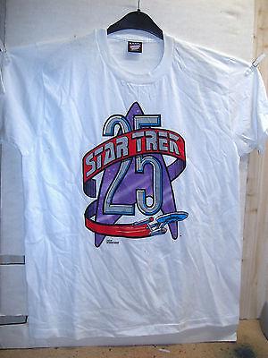 Star White Bekleidung (Vintage T-Shirt: Star Trek 25 Years (white) (XL) (USA, 1991))