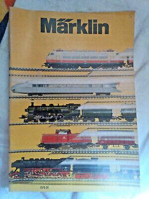 Modellbau-Eisenbahn: Märklin - Katalog DI 1975