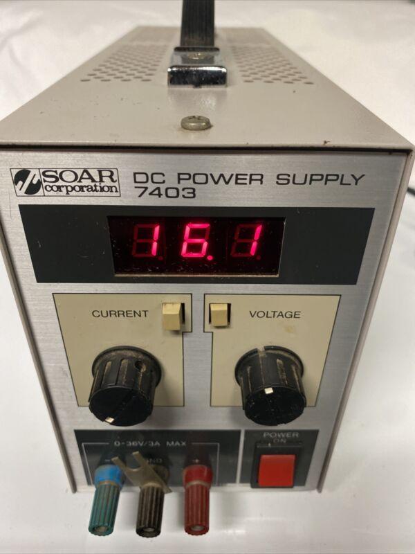 SOAR CORPORATION DC POWER SUPPLY 7403 ORIGINAL OWNER INSTRUMENT