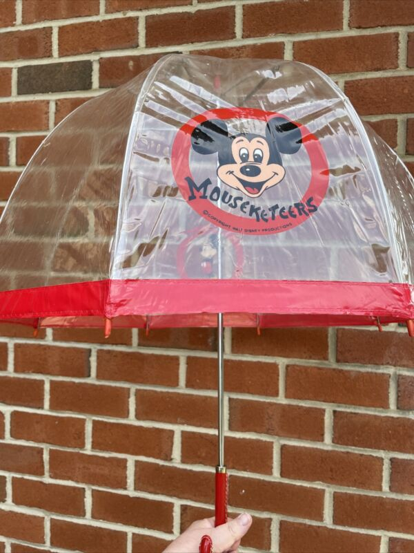 Mickey Mouse Mouseketeers Clear Vintage Umbrella