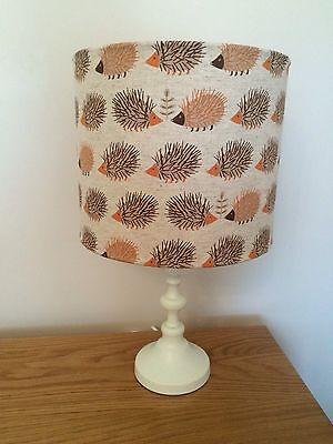 Hedgehog Print Fabric Lamp