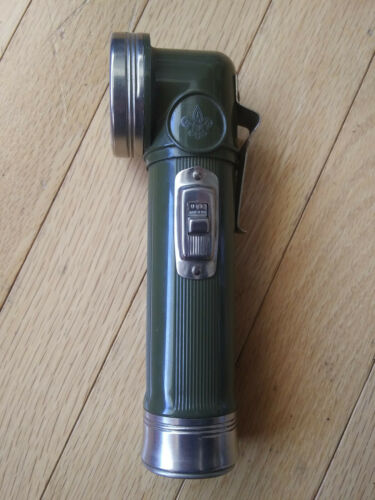 VTG Boy Scouts of America Official Flashlight By Bridgeport Metal Goods (BMG)