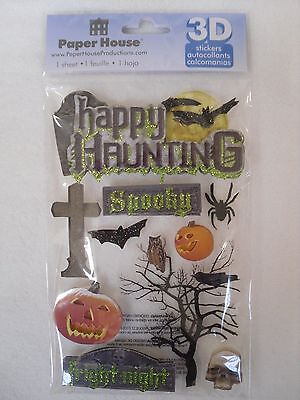 Haunted House Productions (Paper House Productions 3D stickers - HAPPY HAUNTING )