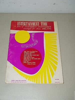 All Organ Entertainment Time Standout Standards Sheet Music 15581 Vintage