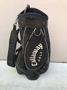 CALLAWAY GOLF DELUXE CART GOLF BAG USED Q4128 HOODCOVER