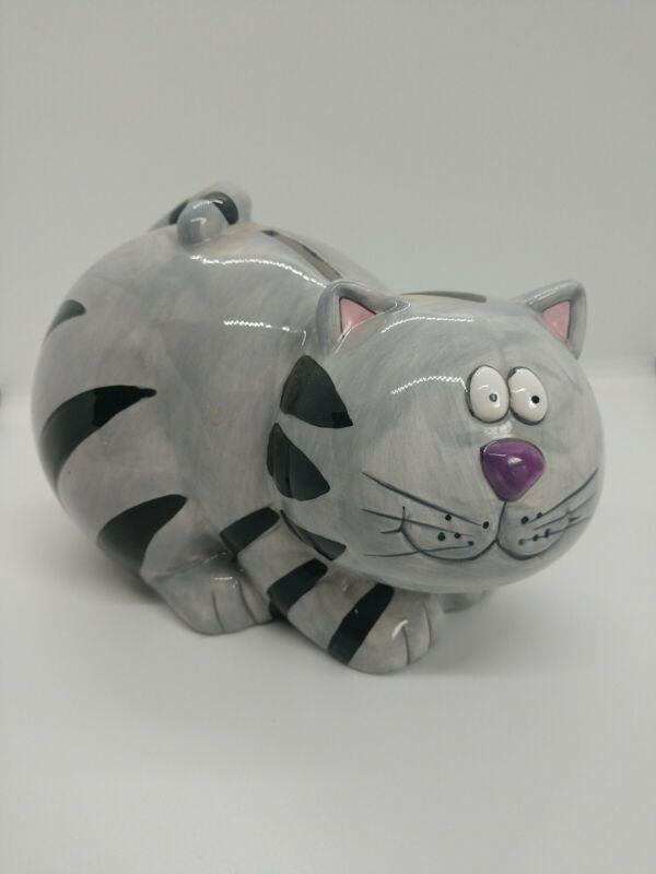 Cat Bank Grey Tabby
