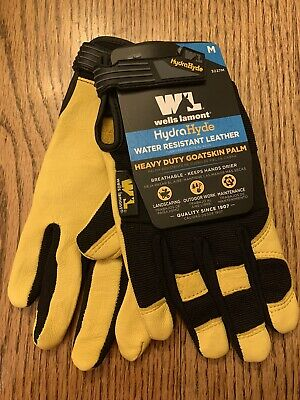 Hydrahyde Premium Goat Skin Leather Work Gloves Wells Lamont Mens Medium