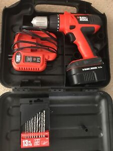 Black & Decker drill set comes with everything you see here