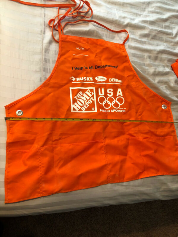 Home Depot Orange Large Adult Employee Apron with Pockets olympics