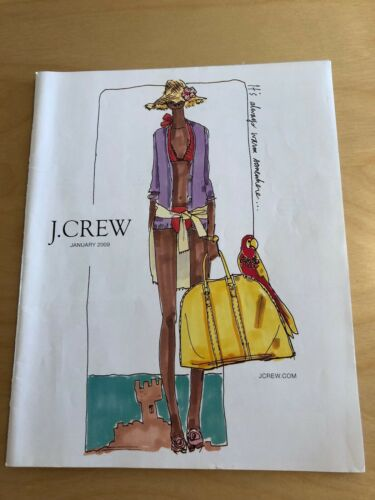 J Crew January 2009 Fashion Clothing Catalog