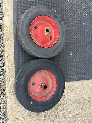 Lot Of 2 12 X 3 Solid Rubber Torch Cart Greasable Wheels 34 Hole 4 Hub