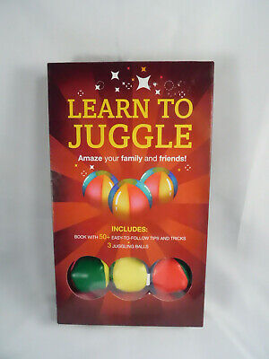 Learn to Juggle Tips & Tricks 3 Juggling Balls + Instruction Booklet