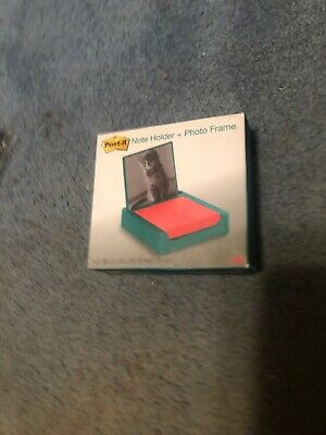 Post-it 3 X 3 Inches Note Holder With Photo Frame Emerald Green