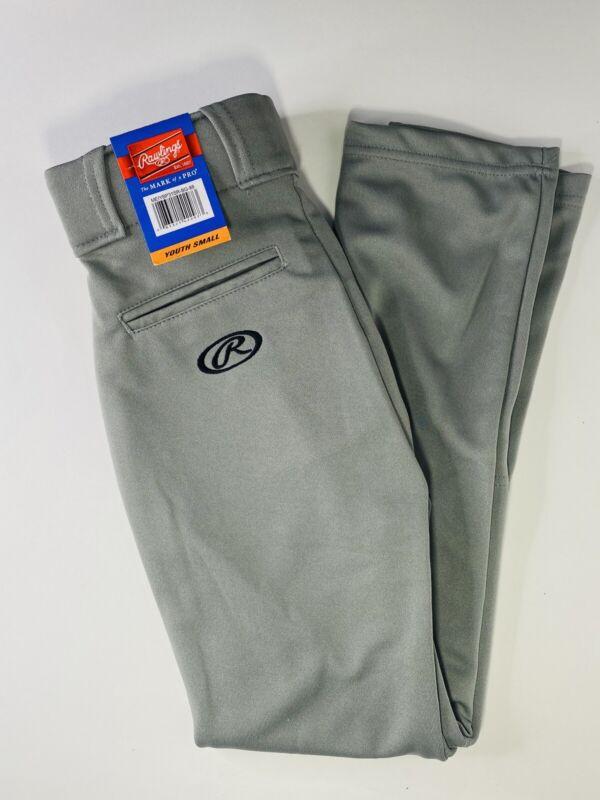 Rawlings Solid Gray Baseball Pants Youth Small NWT