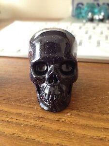 Blue Sand Stone Carved Skulls / Ceramic Mushrooms Fremantle Fremantle Area Preview