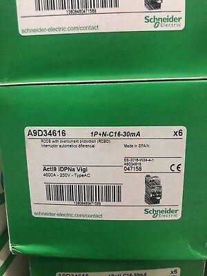 Automático magnetotérmico Diferencial VIGI iDPNa 1P+N 16A 30mA AC Schneider