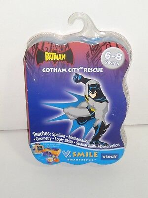 Vtech The Batman Gotham City Rescue Game Cartridge For V Smile   Spelling   Math