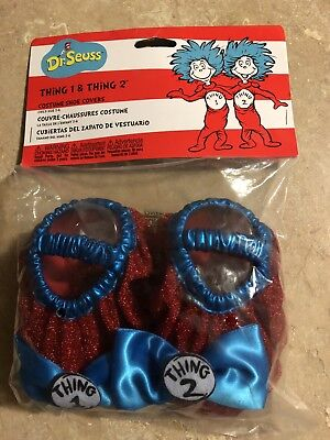 Dr Seuss Thing 1 Thing 2 Costume Shoe Covers Child Size 3-6  - Thing 1 Costume Baby