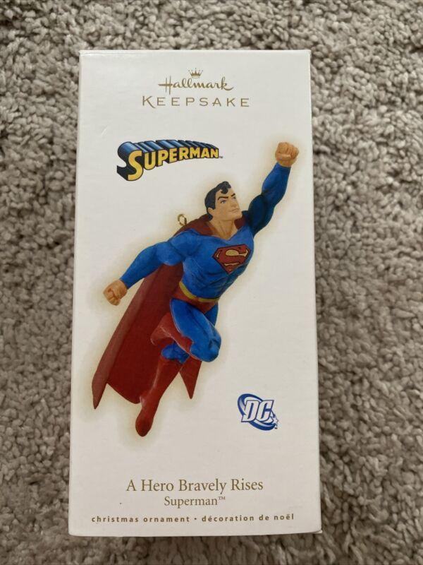 Hallmark Ornament Superman A Hero Bravely Rises DC Comics In Box w/Tag 2009