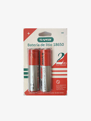 2 X pilas 18650 recargable LI-ION de litio 4800mAh 3,7V