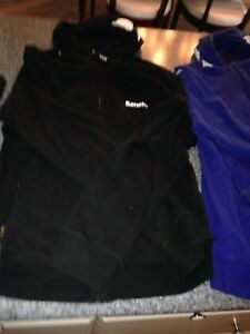 3 men's hooded Bench sweaters, size L/XL