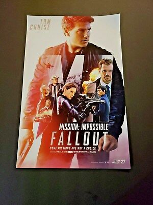 Mission Impossible Fallout (2018) 11 x 17 Original Poster  *NOT A (Mission Impossible Poster)