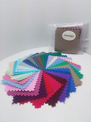 Pocket-Size Seasonal Color Analysis Fabric Swatch Pack - Summer Color Palette