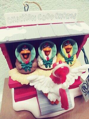 Rare 1996 Hallmark Chicken Coop Chorus Ornament Clucks Jingle Bells  Magic