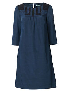 Dickins-Jones-RRP-85-Blue-Black-Lace-Yoke-Tunic-Shift-Dress-House-of-Fraser