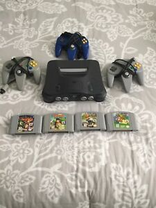 Nintendo 64 console games and controllers