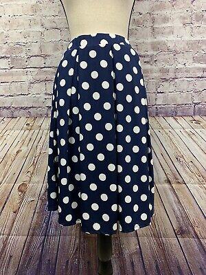 Navy And White Polka Dot Skirt (LuLaRoe Womens Navy And White Polka Dot Skirt Size)