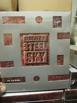 PC Big Box CD-ROM Game Beneath A Steel Sky 1994 Virgin Revolution Software NEW