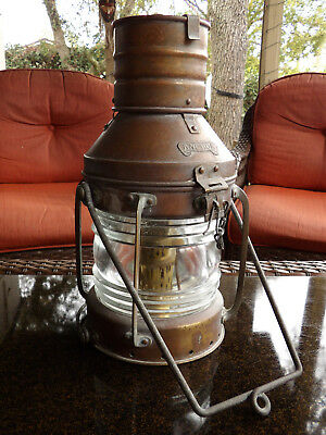 Anchor Ship Lantern Beautiful Large Brass Light,Nautical,Boat,Navy,Kustom,Boat