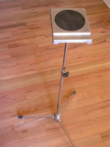 Vintage Ludwig drum practice pad with stand