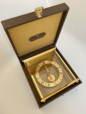 Jaeger LeCoultre Skeleton Clock Baguette In-line 8 Days Movement With In Box