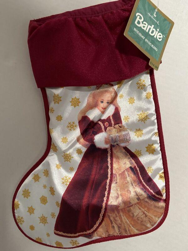 Barbie Holiday Stocking Hallmark 1996 NWT