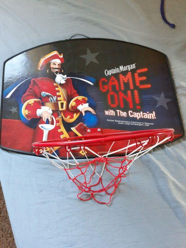 "Captain Morgan Spiced Rum- Basketball Goal Hoop 18x24"""