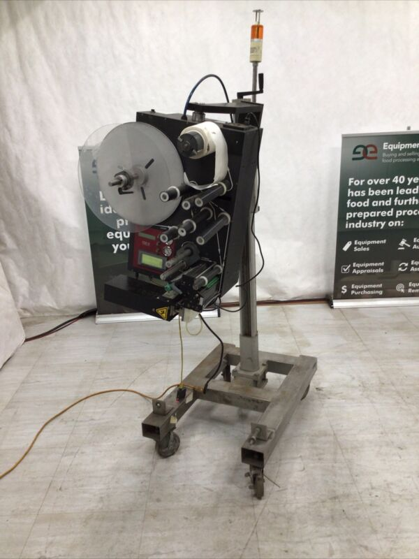Printronix Fox IV Label Printer Model 3600 With Stand Used Working