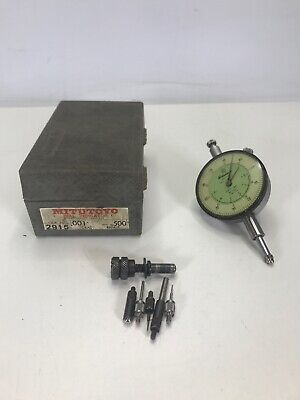 Mitutoyo 2915 Dial Indicator Lug Back Dual Reading .001 -.500 With Case