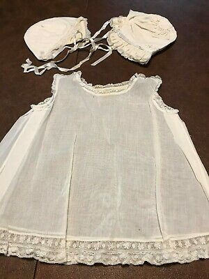 Used, Antique baptism Baby Dress and Bonnets for sale  Shipping to India