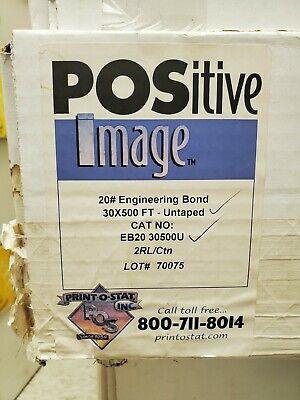 Engineering Bond Plotter Paper 30 X 500 Ft. 20 Lb. White 3 Core 2 Rlctn